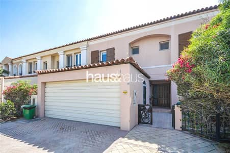 4 Bedroom Townhouse for Sale in Green Community, Dubai - Jacuzzi| Backing Pool and Park| Stunning
