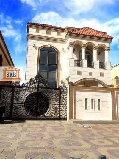 5 Bedroom Villa for Sale in Al Mowaihat, Ajman - New villa for sale very beautiful stone facade distinctive location
