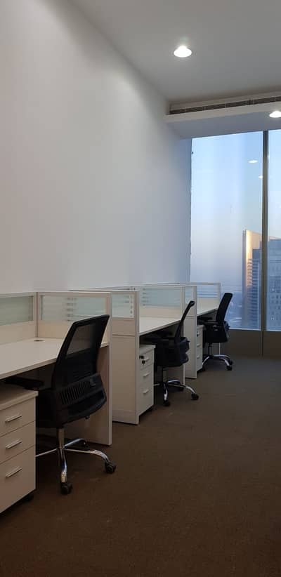 Office for Rent in Sheikh Zayed Road, Dubai - Work Station For use /Remarkable location Shiekh Zayed Road