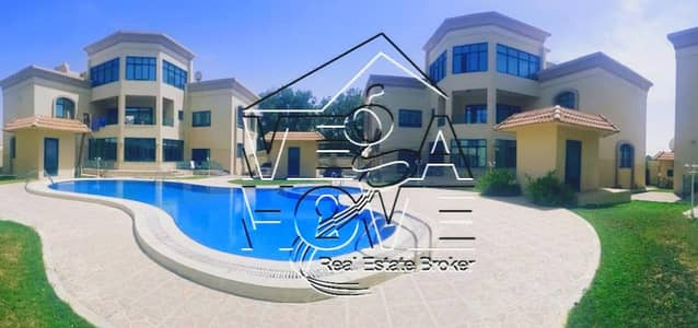 5 Bedroom Villa for Rent in Khalifa City A, Abu Dhabi - 5 BR Villa with 3 living rooms W/ Communal Swimming Pool