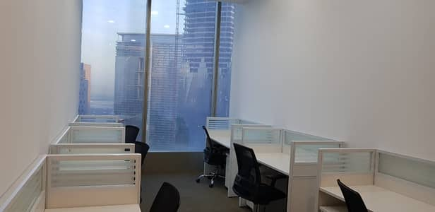 Office for Rent in Sheikh Zayed Road, Dubai - WORK STATION FOR RENT    SHEIKH ZAYED ROAD VIEW