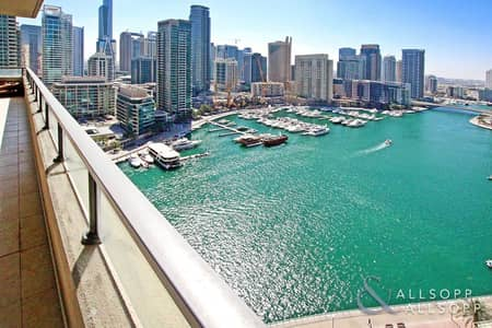 2 Bedroom Apartment for Sale in Dubai Marina, Dubai - Largest 2 Bed | Full Marina View | Vacant