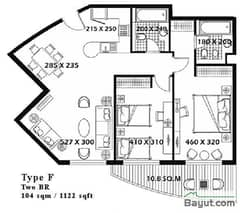 2 Bed Type F
