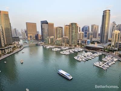 3 Bedroom Apartment for Sale in Dubai Marina, Dubai - Panoramic Marina Views | with Balcony