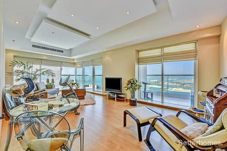 3 Bedroom Apartment for Sale in Dubai Marina, Dubai - Luxury Furnished | Fully Upgraded | Sea View | Emirates Crown