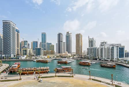 2 Bedroom Apartment for Sale in Dubai Marina, Dubai - Balcony | Full Marina View | Rented | Low floor