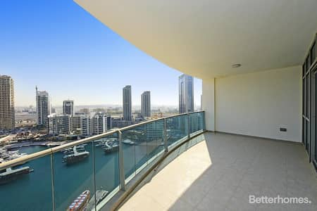 3 Bedroom Apartment for Sale in Dubai Marina, Dubai - Marina View 3 Bed in The Jewels Tower 2.