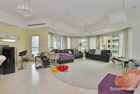 3 Bedroom Flat for Sale in Dubai Marina, Dubai - Partial Marina View   Low Floor   Maids