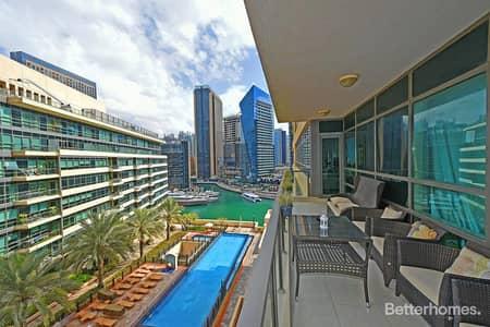 2 Bedroom Flat for Sale in Dubai Marina, Dubai - Vacant Upgraded Marina Views in Quay West
