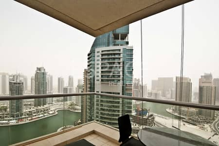 شقة 1 غرفة نوم للايجار في دبي مارينا، دبي - Fully Furnished |Vacant Unit |Marina View