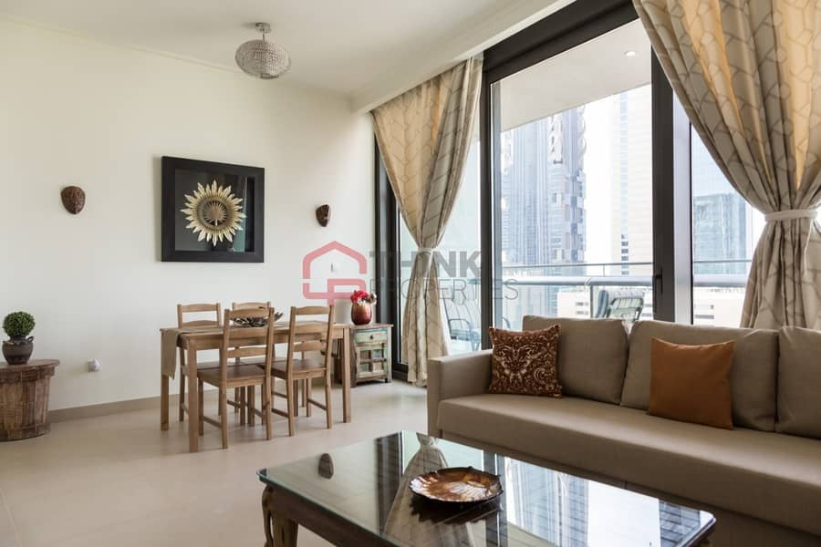 2 Fully Furnished Brand New 1 BR Apartment