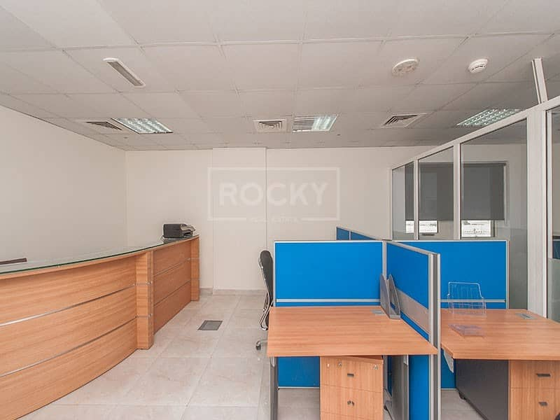14 Smallest Furnished Office with partition in Arjan