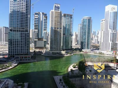2 Bedroom Flat for Rent in Jumeirah Lake Towers (JLT), Dubai - 2BR -  Furnished  | Balcony with  Lake View