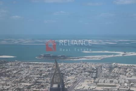 فلیٹ  للايجار في وسط مدينة دبي، دبي - Exclusive 95th Floor Full Sea View 3 Bed