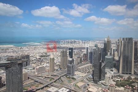 فلیٹ 3 غرفة نوم للايجار في وسط مدينة دبي، دبي - Exclusive 95th Floor Full Sea View 3 Bed