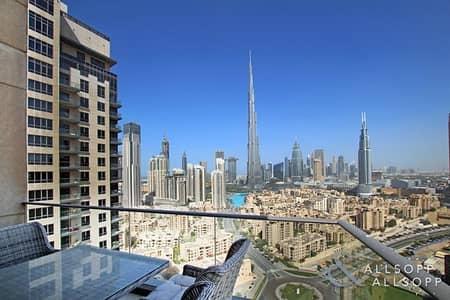 شقة 2 غرفة نوم للايجار في وسط مدينة دبي، دبي - High Floor | 2 Bedroom | Burj Khalifa View