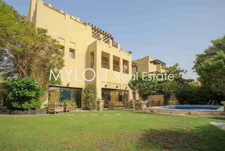 5 Bedroom Villa for Rent in The Lakes, Dubai - Upgraded Hattan with Park and Lake Views