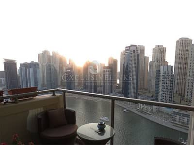 فلیٹ 1 غرفة نوم للبيع في دبي مارينا، دبي - 1 Bed Apartment with Study | Marina View