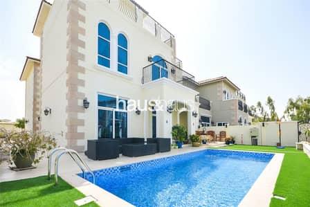 تاون هاوس 5 غرفة نوم للايجار في موتور سيتي، دبي - 5 Bed + Study | Private Pool | Signature