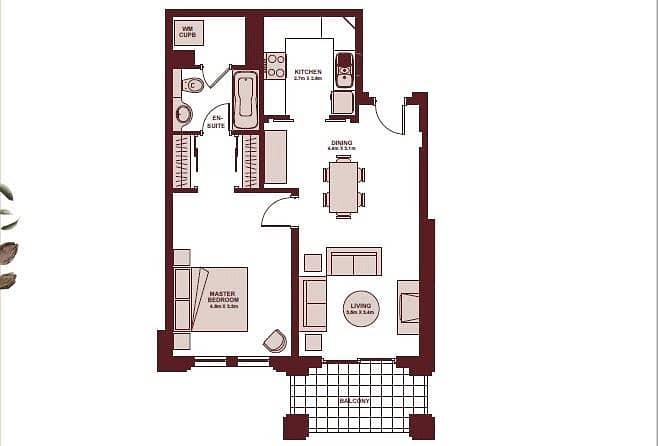 10 One Bedroom | One Bathroom | Unfurnished