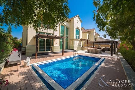 4 Bedroom Villa for Sale in Jumeirah Islands, Dubai - French Riviera | Garden Hall | Lake View