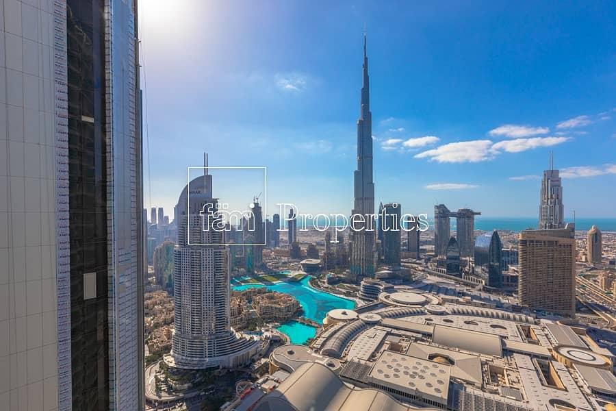 2 Burj khalifa and fountain view 2br