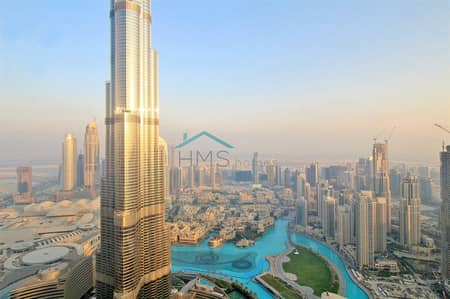 3 Bedroom Flat for Rent in Downtown Dubai, Dubai - Above 60 |Burj Vista | Rare Unit |Vacant