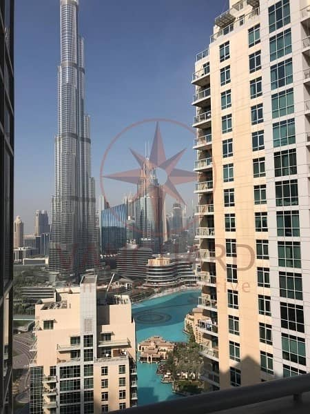 High Floor 3BR+Maids I Full Burj and Fountain View