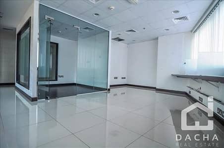 مکتب  للايجار في أبراج بحيرات جميرا، دبي - Beautiful fitted office on a middle floor in HDS