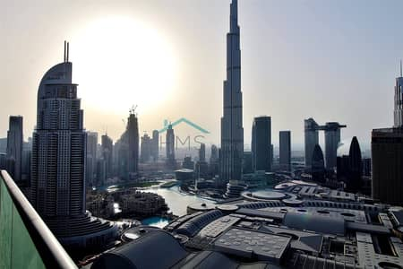 2 Bedroom Flat for Rent in Downtown Dubai, Dubai - BURJ VIEW | FULLY FURNISHED | 1477 SQ FT