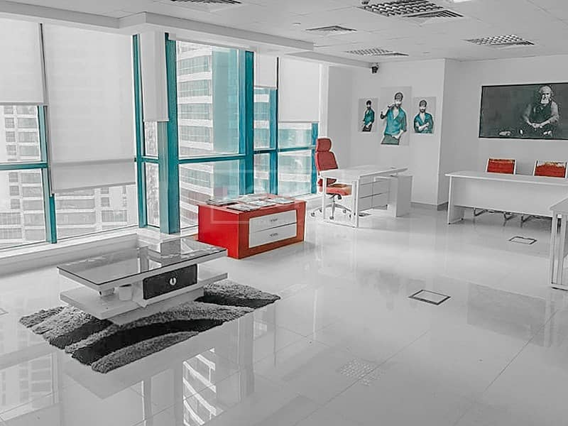 2 Lake View | Fitted-Unfurnished Office | Jumeirah Bay X2
