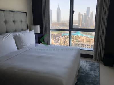 Fountain & Burj Khalifa View | Furnished