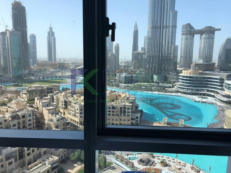 2 Fountain & Burj Khalifa View | Furnished