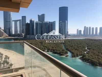 5 Bedroom Townhouse for Rent in Al Reem Island, Abu Dhabi - Full Sea View   Brand New 5 BR Penthouse in Al Qurm View