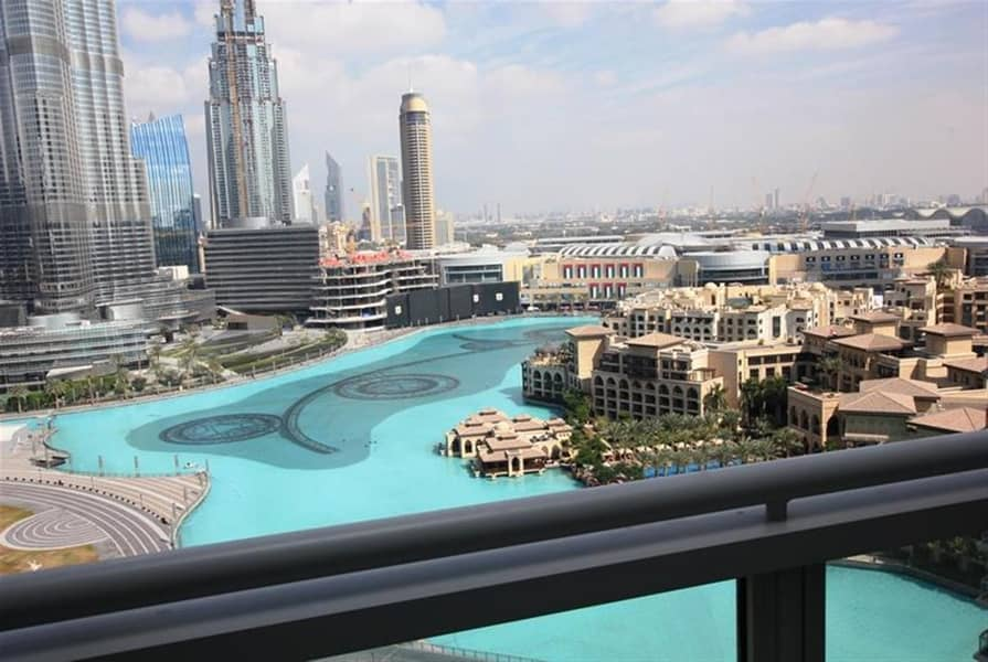 1 UNFORGETTABLE Fountain and Burj Khalifa view 3BR+Maid+Balcony in Tower-5