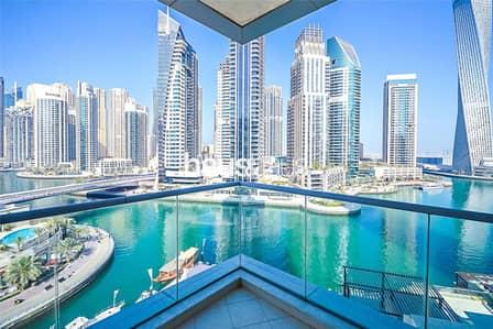 3 Bedroom Apartment for Rent in Dubai Marina, Dubai - Incredible Full Marina View | Maids Room | Library