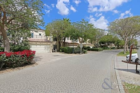 4 Bedroom Townhouse for Rent in Green Community, Dubai - Vacant | Backing the Pool and Greenery