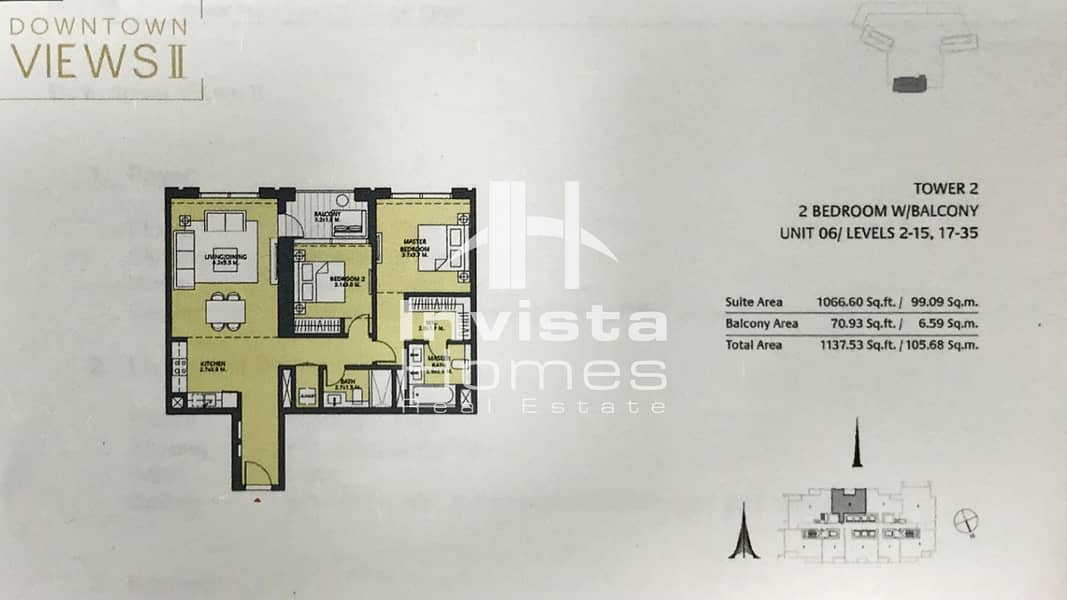 10 Amazing Views | High Floor | Off plan | Downtown Dubai