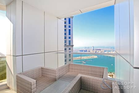 3 Bedroom Apartment for Sale in Dubai Marina, Dubai - Sea and Palm Views | Vacant | 3 Bedrooms