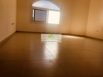 New huge 1- bedroom hall in khalifa city A . Shared swimming pool
