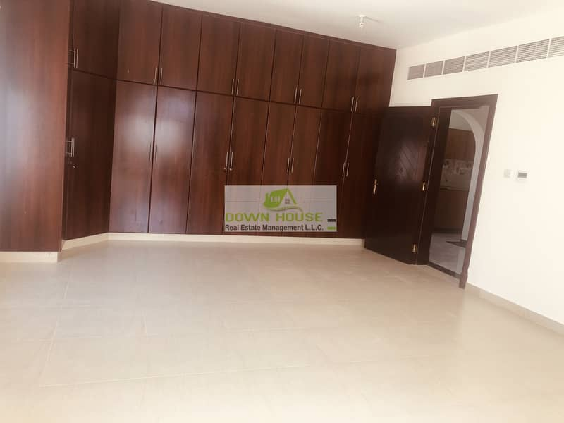 2 New huge 1- bedroom hall in khalifa city A . Shared swimming pool