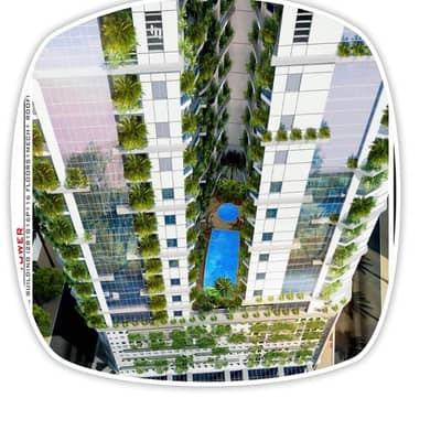 1 Bedroom Flat for Sale in Al Amerah, Ajman - Apartment for Sale Powell Tower Environment Friendly with First Payment (5%) with Parking