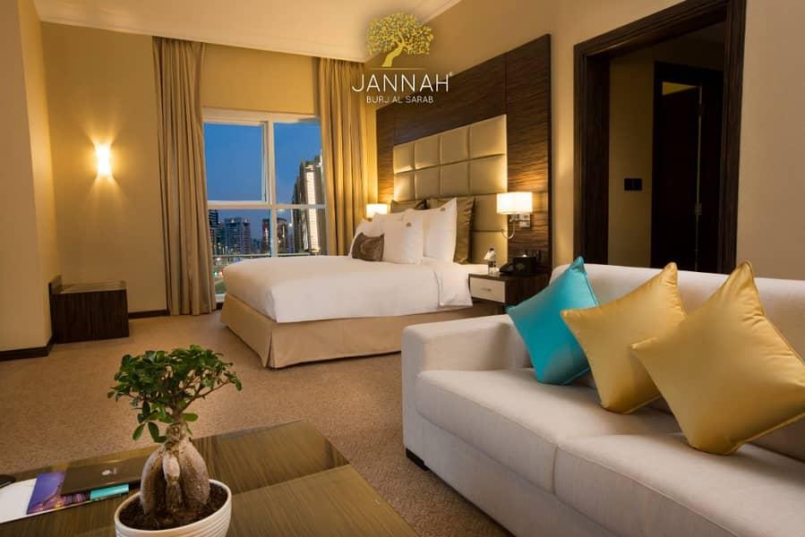 شقة فندقية في فندق جنة ابراج السراب شارع المينا منطقة النادي السياحي 80000 درهم - 3750671