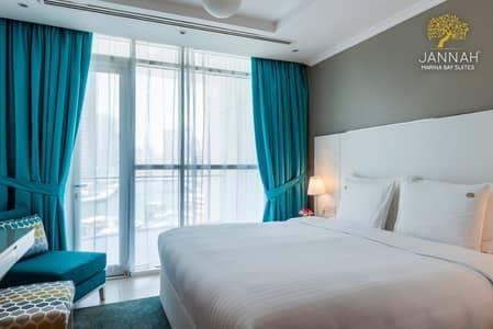 شقة فندقية 1 غرفة نوم للايجار في دبي مارينا، دبي - شقة فندقية في فندق جنة مارينا باي سويتس دبي مارينا 1 غرف 10500 درهم - 3768570