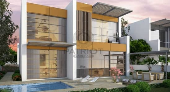 Luxury villas with warm earthy accents in a Golf Community