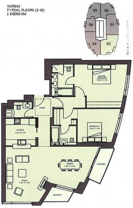 10 Exclusive | Largest Layout | 2 Balconies