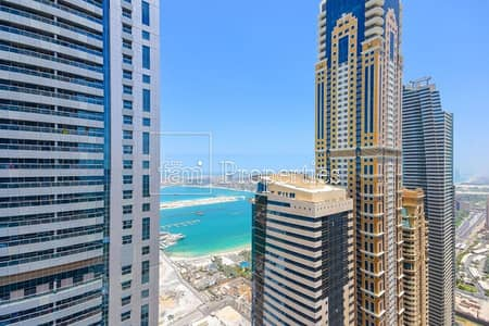 2 Bedroom Apartment for Rent in Dubai Marina, Dubai - Chiller Free | 2BR Furnished| High Floor