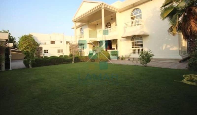 GCC only Huge garden 7BR +majlis+gym independent