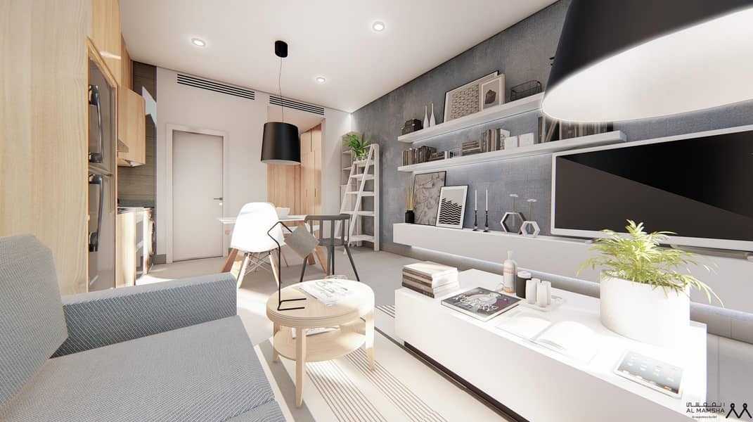Stylish Studio with Garden