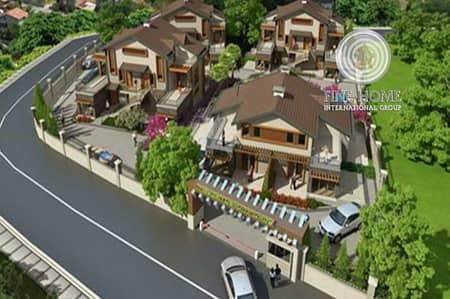 4 Bedroom Villa for Sale in Shakhbout City (Khalifa City B), Abu Dhabi - Corner 5 Viilas Compound